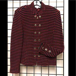 St. John military buttons knit jkt